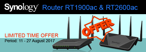 Synology Router RT1900ac & RT2600ac