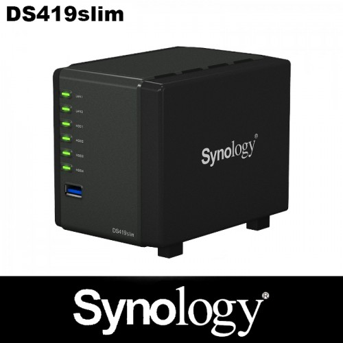 Synology 4-bay cube-shaped NAS  2 year warranty