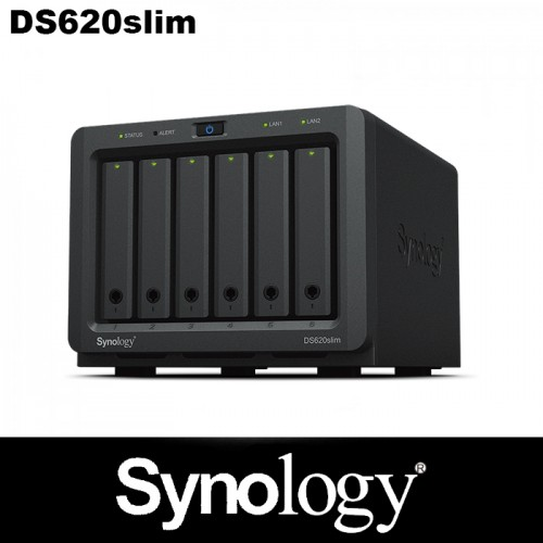 Synology mini 6-bay NAS with a stylish chassis design 5 year warranty