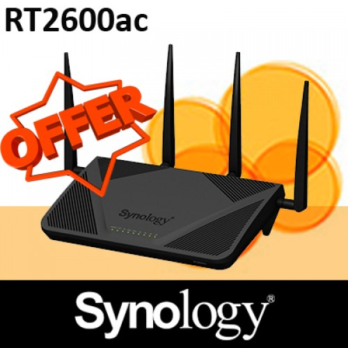 Synology Router RT2600ac Blazing-fast Wi-Fi with up to 2.53Gbps