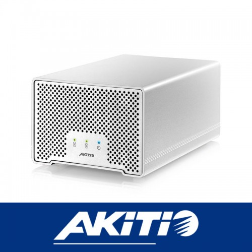 "Akitio Thunder D3 2Bay 2.5"" storage enclosure with Thunderbolt and USB 3 port"
