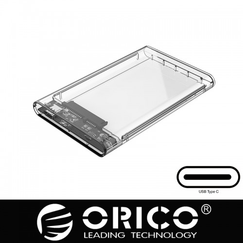 "ORICO 2.5"" Transparent Type-C Hard Drive Enclosure (2139C3)"