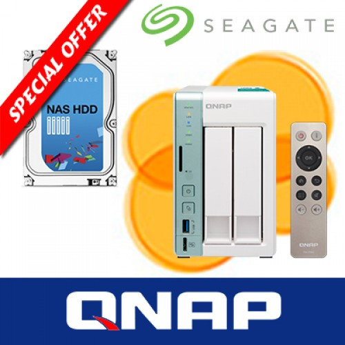 QNAP TS-251A  with 1 x Seagate NAS HDD