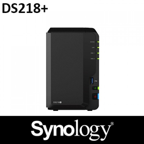 Synology DS218+ 2GB RAM 2Bay NAS 2Years Warranty