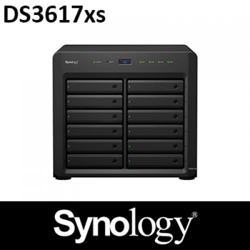 Synology DS3617xs 16GB RAM 12Bay NAS 5Years Warranty