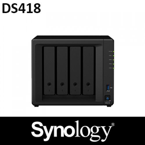 Synology DS418 2GB RAM 4Bay NAS 2Years Warranty