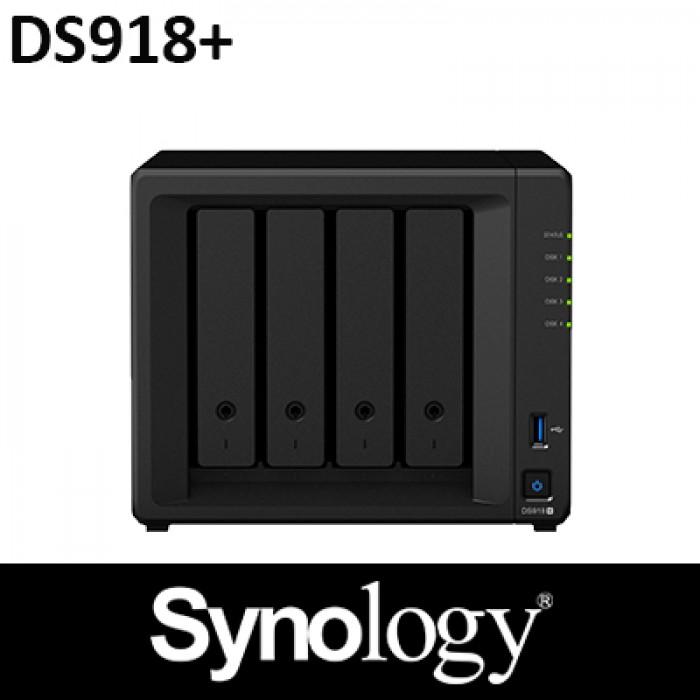 Synology DS918+ 4GB RAM 4Bay NAS 3Years Warranty