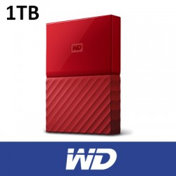 WD 1TB My Passport USB3.0 Portable Hard Disk RED